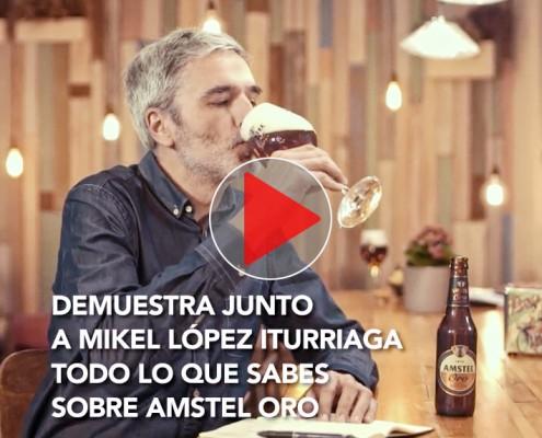 Cerveza Amstel Oro RRSS Mikel Iturriaga